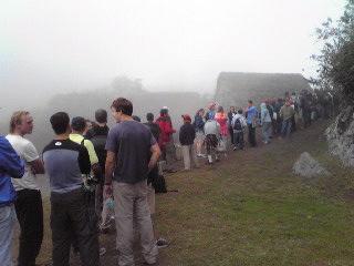 ワイナピチュの登山口にて