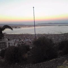チチカカ湖の夕暮れ